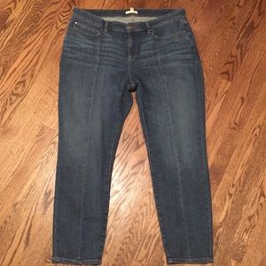Eileen Fisher sz 14 ankle jean with front seam